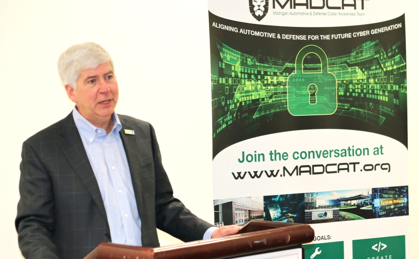 Governor Snyder recognizes MADCAT efforts to build a talent pipeline for cybersecurity